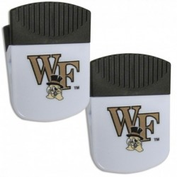 Wake Forest Demon Deacons Chip Clip Magnet with Bottle Opener  2 pack