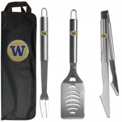 Washington Huskies 3 pc Stainless Steel BBQ Set with Bag
