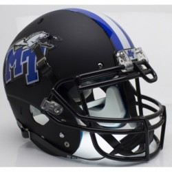 Middle Tennessee State Blue Raiders Authentic College XP Football Helmet Schutt Matte Black