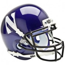Northwestern Wildcats Mini XP Authentic Helmet Schutt
