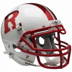 Rutgers Scarlet Knights Authentic College XP Football Helmet Schutt Chrome R