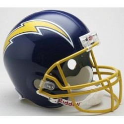 San Diego Chargers 1974 to 1987 Football Helmet
