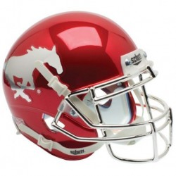 Southern Methodist (SMU) Mustangs Authentic College XP Football Helmet Schutt Chrome
