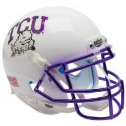 TCU Horned Frogs Authentic College XP Football Helmet Schutt Chrome Mask