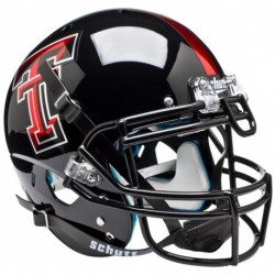 Texas Tech Red Raiders Authentic College XP Football Helmet Schutt Chrome Logo