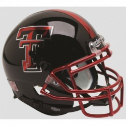 Texas Tech Red Raiders Authentic College XP Football Helmet Schutt Chrome Mask Guns Up