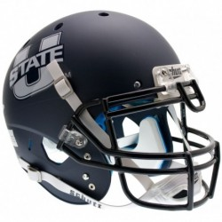 Utah State Aggies Authentic College XP Football Helmet Schutt Matte Navy