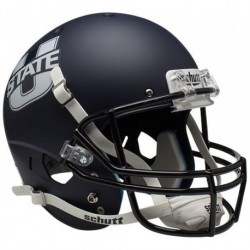 Utah State Aggies Full XP Replica Football Helmet Schutt Matte Navy