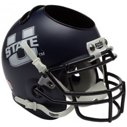 Utah State Aggies Miniature Football Helmet Desk Caddy Matte Navy