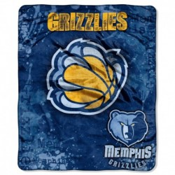Memphis Grizzlies Blanket 50x60 Raschel Drop Down Design