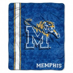 Memphis Tigers Blanket 50x60 Sherpa Jersey Design