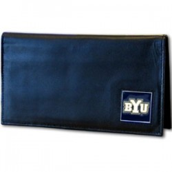 BYU Cougars Deluxe Leather Checkbook Cover