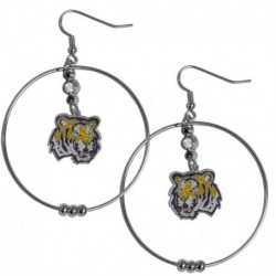 LSU Tigers 2 Inch Hoop Earrings