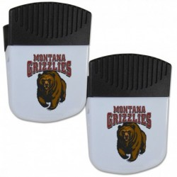 Montana Grizzlies Chip Clip Magnet with Bottle Opener  2 pack