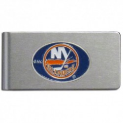 New York Islanders Brushed Metal Money Clip