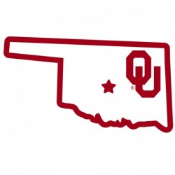 Oklahoma Sooners Home State 11 Inch Magnet
