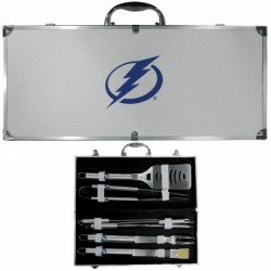 Tampa Bay Lightning 8 pc Stainless Steel BBQ Set w/Metal Case