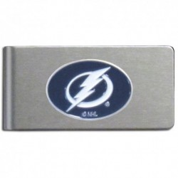 Tampa Bay Lightning Brushed Metal Money Clip