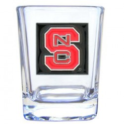 College 2 oz Glass - NC State Wolfpack