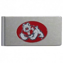 Fresno St. Bulldogs Brushed Metal Money Clip