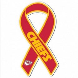 Kansas City Chiefs Ribbon Magnet