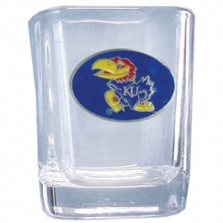 Kansas Jayhawks Square Shot Glass