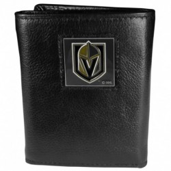 Las Vegas Golden Knights Deluxe Leather Tri-fold Wallet