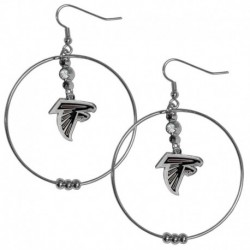 Atlanta Falcons 2 Inch Hoop Earrings
